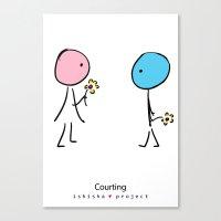 COURTING By ISHISHA PROJ… Canvas Print