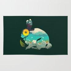 Rabbit Sky - (Forest Green) Rug