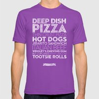 Chicago — Delicious Ci… Mens Fitted Tee Ultraviolet SMALL