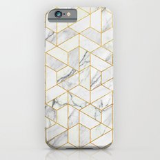 Marble hexagonal pattern iPhone 6 Slim Case