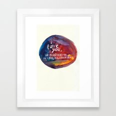 Dear Me, Framed Art Print