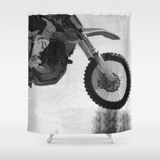 Motocross Dirt-Bike Racer Shower Curtain