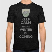 Keep Calm - Game Poster 02 Mens Fitted Tee Tri-Black SMALL