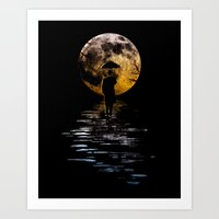 Rainman At Moonrise Art Print