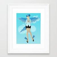 Twitter Mascot Framed Art Print