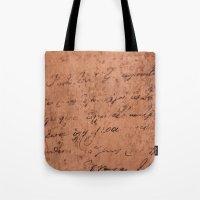 Manuscript Tote Bag