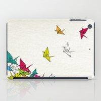 cranes origami iPad Case