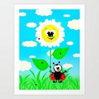 Ladybug for Children Art Print