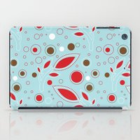 Retro Blue And Red Patte… iPad Case