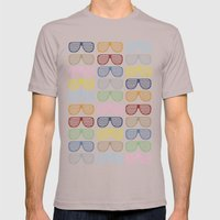 Rainbow Shutter Shades Mens Fitted Tee Cinder SMALL