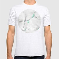 Green Cracked Design Mens Fitted Tee Ash Grey SMALL