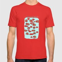 Hedgehogs Say Funny Things Mens Fitted Tee Red SMALL