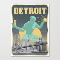 Spirit of Detroit Canvas Print