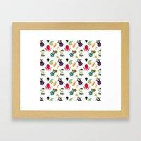 the crew ( pattern version ) Framed Art Print