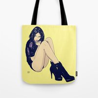 Legs And Shoes Tote Bag