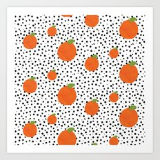 Polka Dot Oranges Art Print