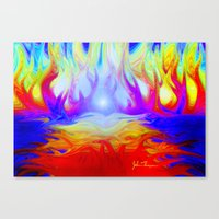 Flaming Forrest Canvas Print