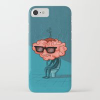 brain iPhone & iPod Cases featuring Brain by Julia Sanz