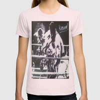 The Rumble Womens Fitted Tee Light Pink SMALL
