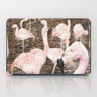 Pink Flamingos iPad Case