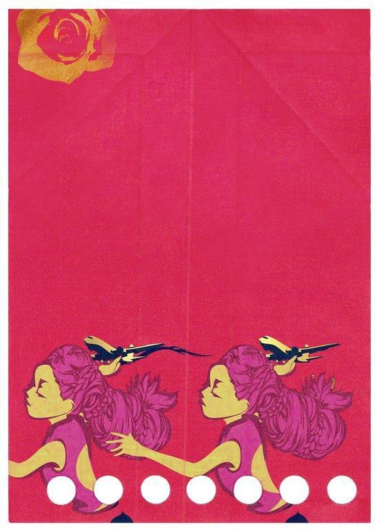PAPER PLANE/ROSE Art Print