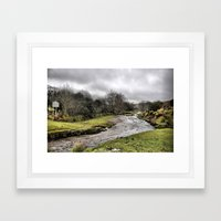 Exmoor uk Framed Art Print
