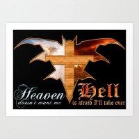 Heaven & Hell Bat Art Print