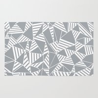 Abstract Lines B Grey Rug