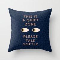 Quiet Zone Throw Pillow