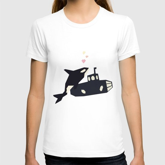 K is for Killer whale T-shirt