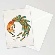 fox circle Stationery Cards
