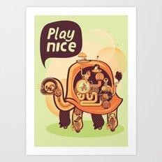 Turtle God Art Print