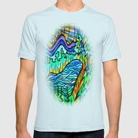 HIKERS REWARD Mens Fitted Tee Light Blue SMALL