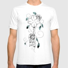 Poetic Key of Luck  Mens Fitted Tee White SMALL