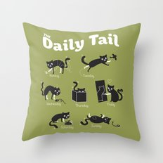 The Daily Tail Cat Throw Pillow