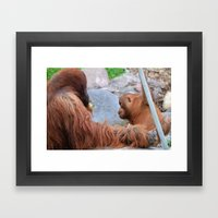 Hangin' with Dad Framed Art Print