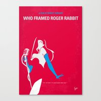 No271 My ROGER RABBIT minimal movie poster Canvas Print