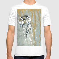 Jellyfish Voyage SMALL White Mens Fitted Tee