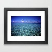 paradise waters Framed Art Print