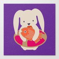 Beach Bunny Canvas Print
