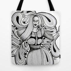 Wooden Swirls Tote Bag