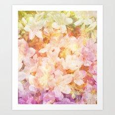 Azalea Flowers Art Print