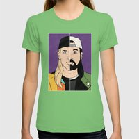 Jay & Silent Bob Womens Fitted Tee Grass SMALL
