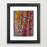 Fall Birch Trees Framed Art Print