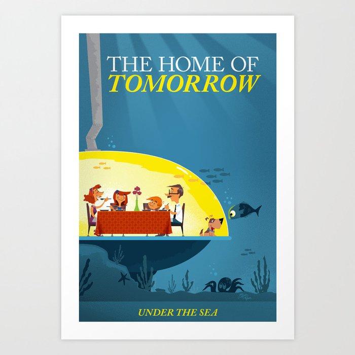 Undersea home of tomorrow art print by josh cleland society6 for Tomorrow homes