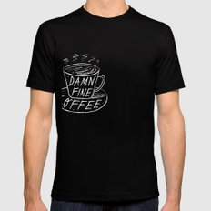 Damn Fine Coffee Mens Fitted Tee SMALL Black