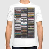 Old 80's & 90's Hip Hop Tapes Mens Fitted Tee White SMALL