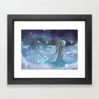 Lady Winter Framed Art Print