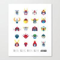 Japanese ROBOTS  Canvas Print