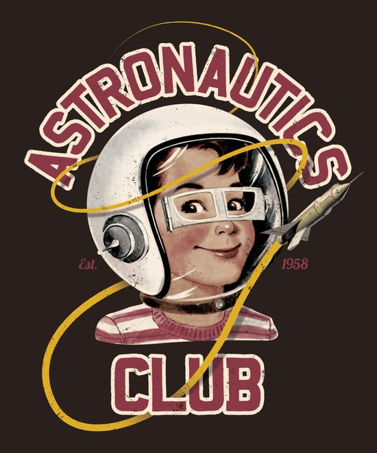 Astro Club (brown) Art Print